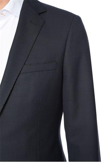 Jakarlı Lacivert Takım Elbise
