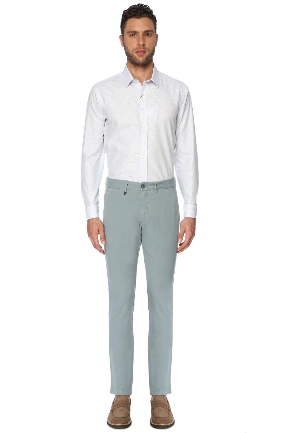 Armürlü Mint Yeşili Pantolon