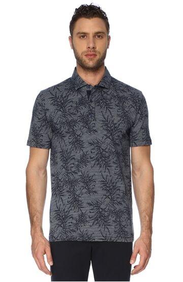 Jakarlı Polo Yaka Lacivert Tshirt