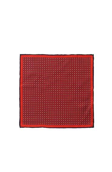 Lacivert-Kırmızı Erkek Mendil