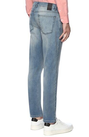 Slım Fit Mavi Denım Pantolon