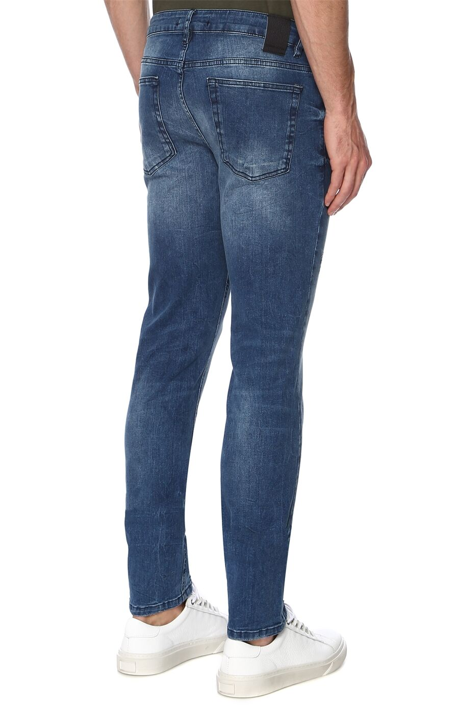 Slım Fit Lacivert Denim Pantolon