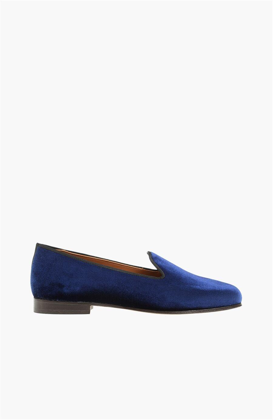 Kadife Lacivert Kadın Ayakkabı