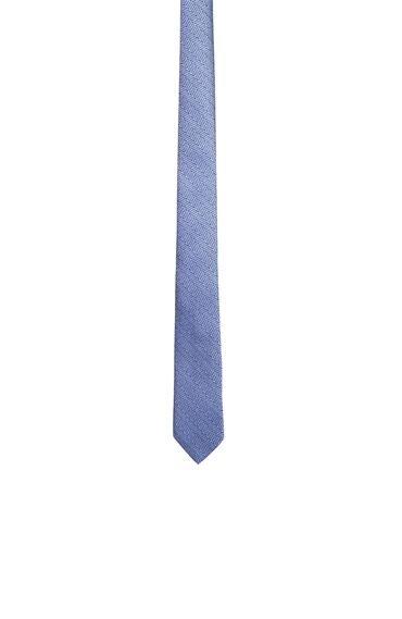 Desenli Mavi Erkek Kravat