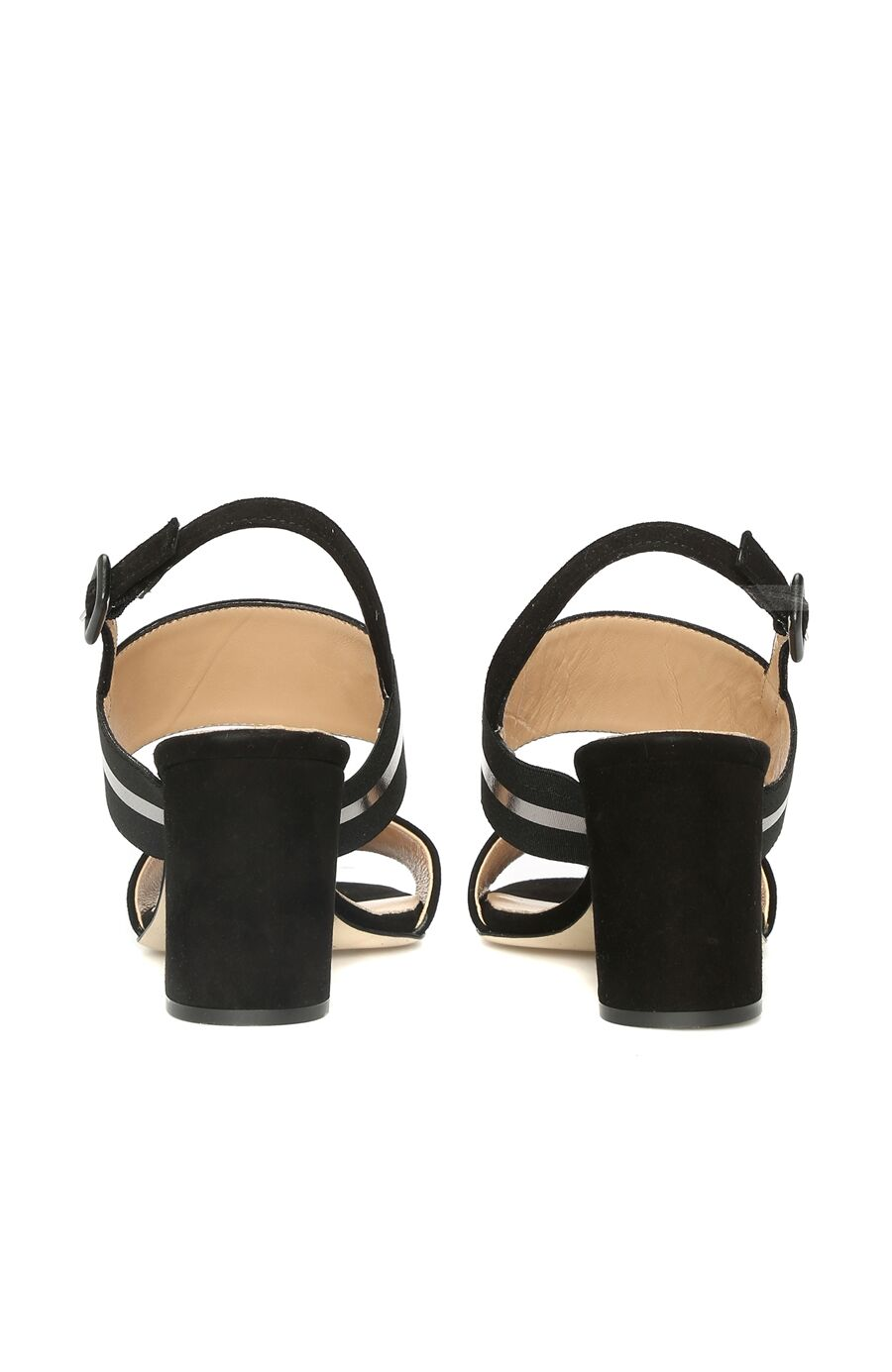 Süet Siyah Sandalet