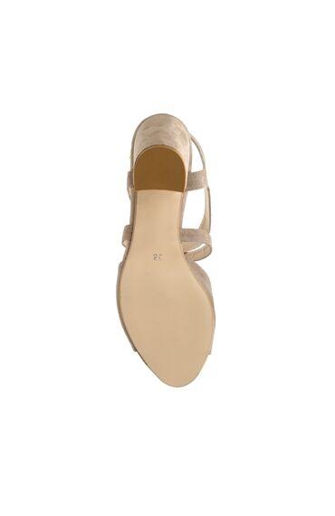 Süet Vizon Kadın Sandalet