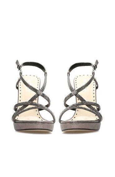 Taşlı Platin Sandalet
