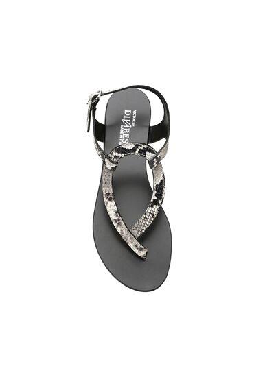 Yılan Baskı Vizon Sandalet