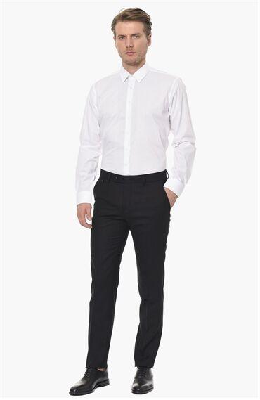 Jakarlı Beyaz Gömlek
