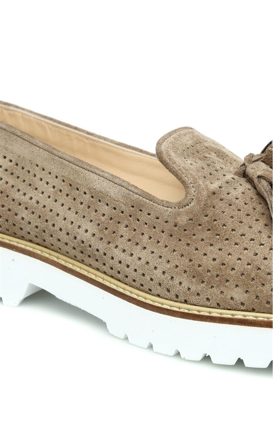 Delikli Vizon Kadın Ayakkabı
