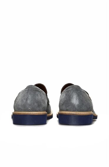 Süet Mavi Erkek Loafer