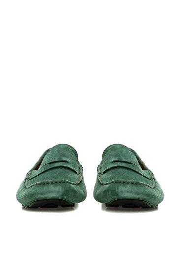 Süet Yeşil Erkek Loafer