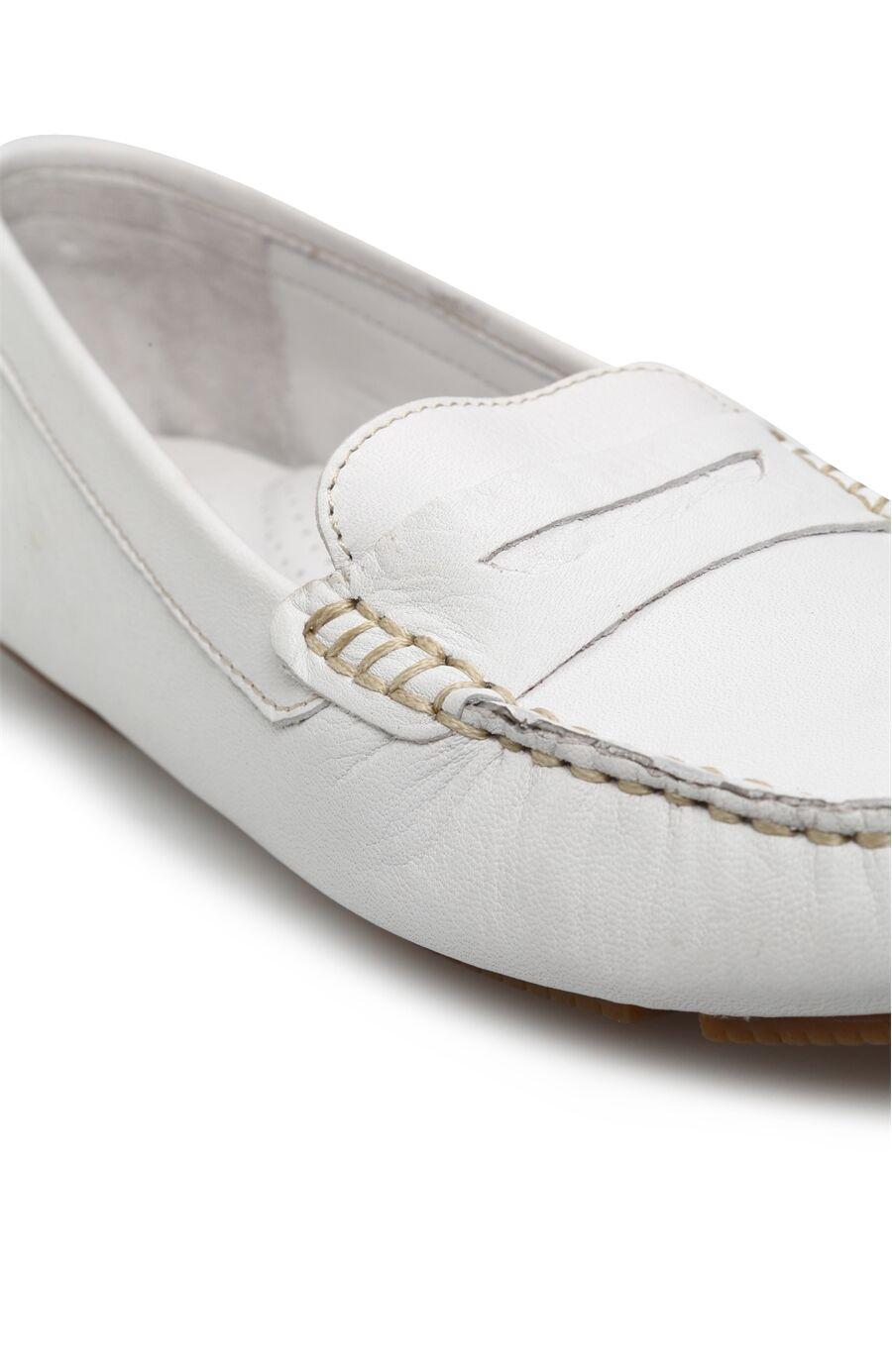 Beyaz Kadın Loafer