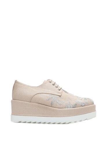 Nakışlı Vizon Ayakkabı