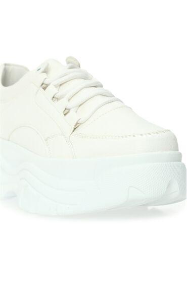 Kalın Tabalı Beyaz Kadın Sneaker