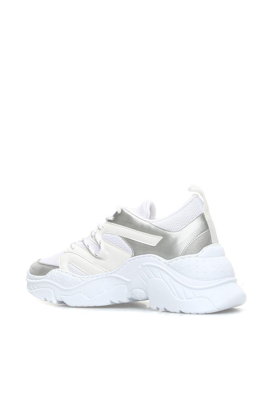 Beyaz Gri Kadın Sneaker