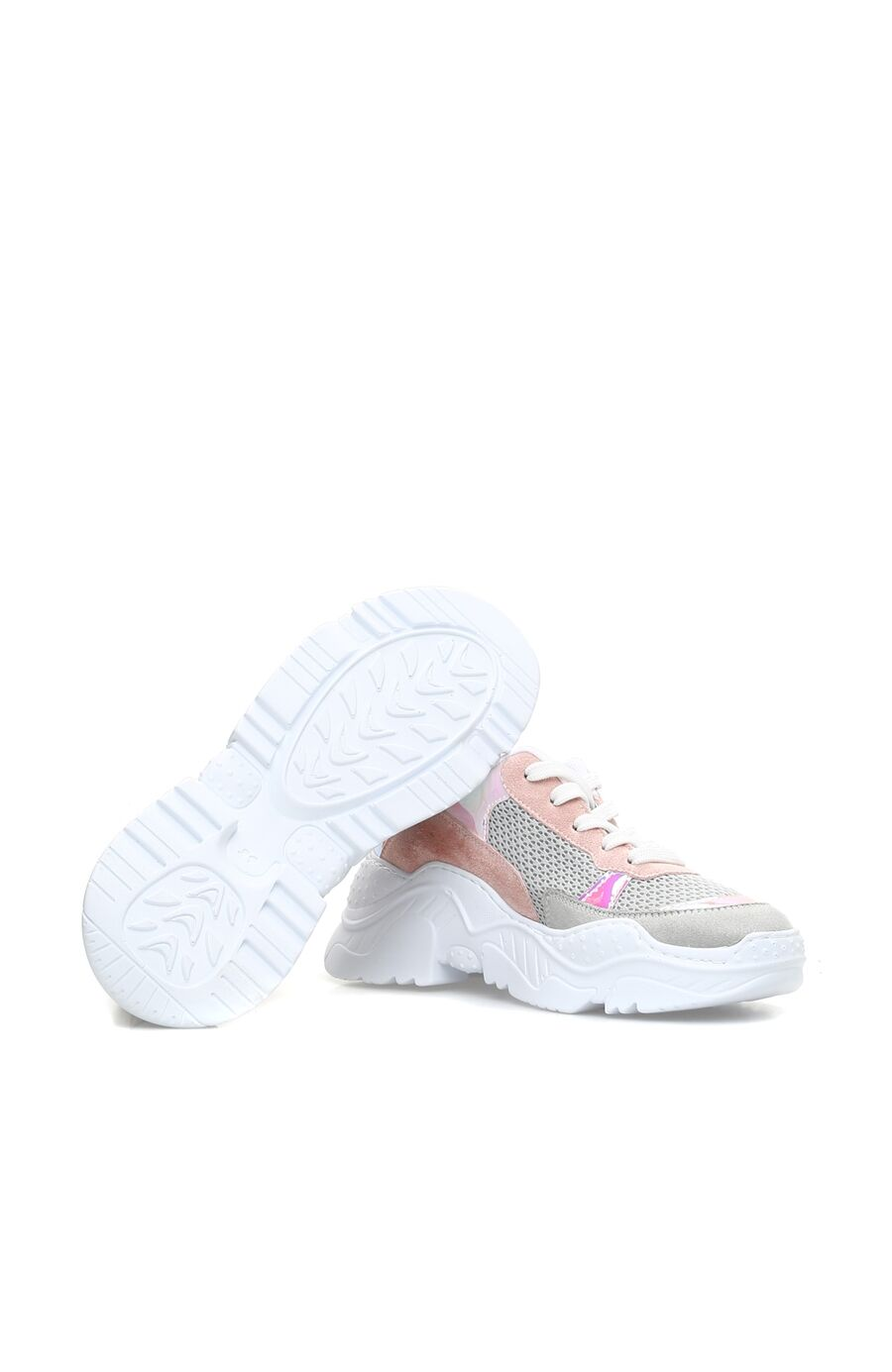 Gri-Pembe Kadın Sneaker