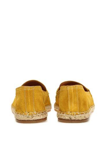 Süet Sarı Kadın Loafer