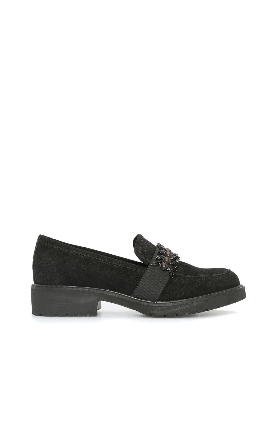 DIVARESE Süet Siyah Loafer