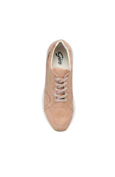 Süet Pudra Rengi Kadın Sneaker