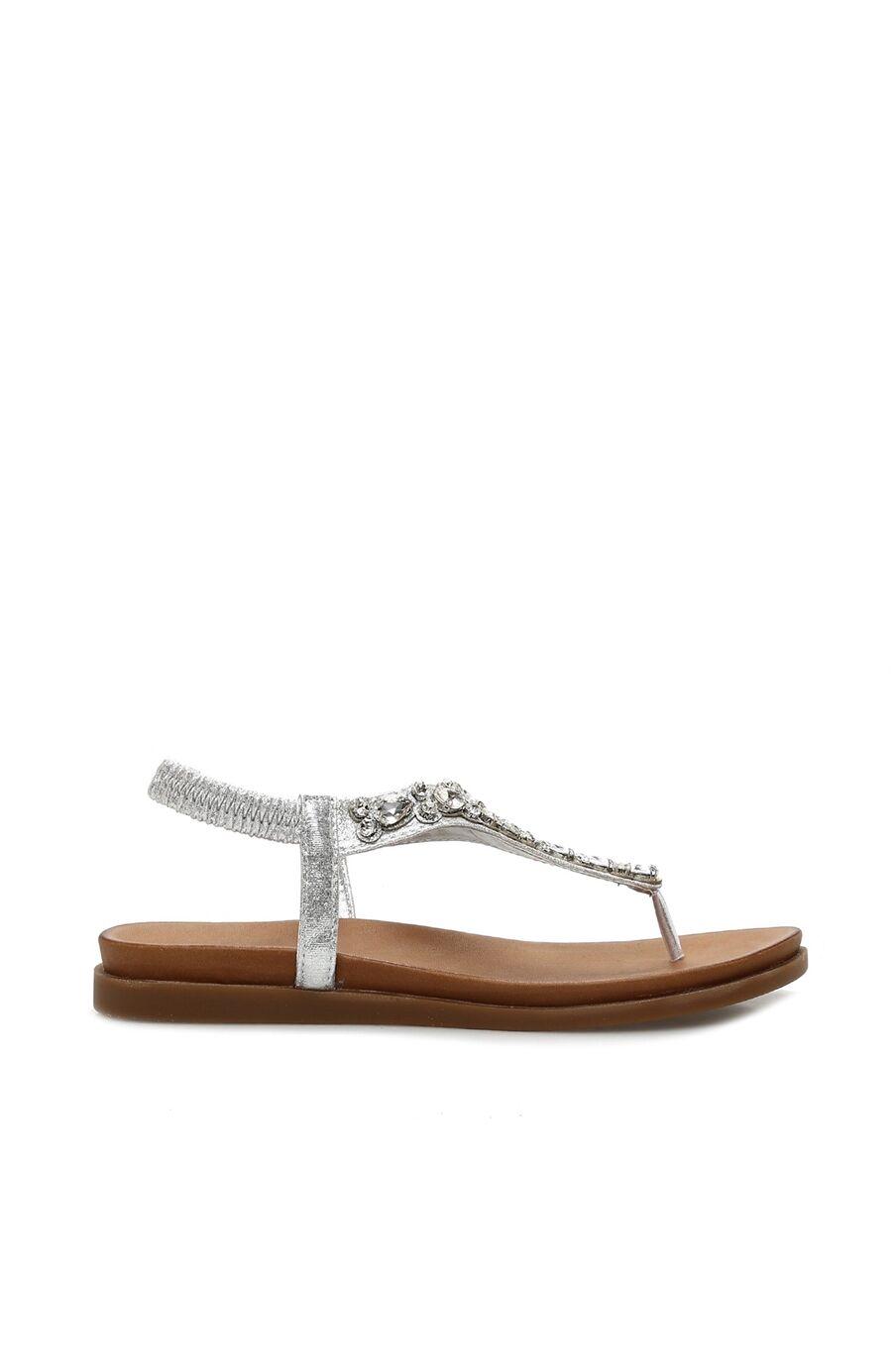 Dıvarese Taşlı Gümüş Sandalet – 299.5 TL