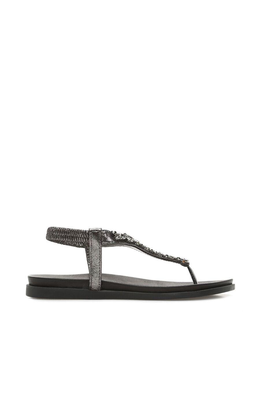 Dıvarese Taşlı Kurşun Sandalet – 299.5 TL