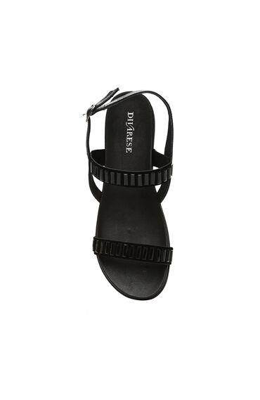 Süet Siyah Kadın Sandalet
