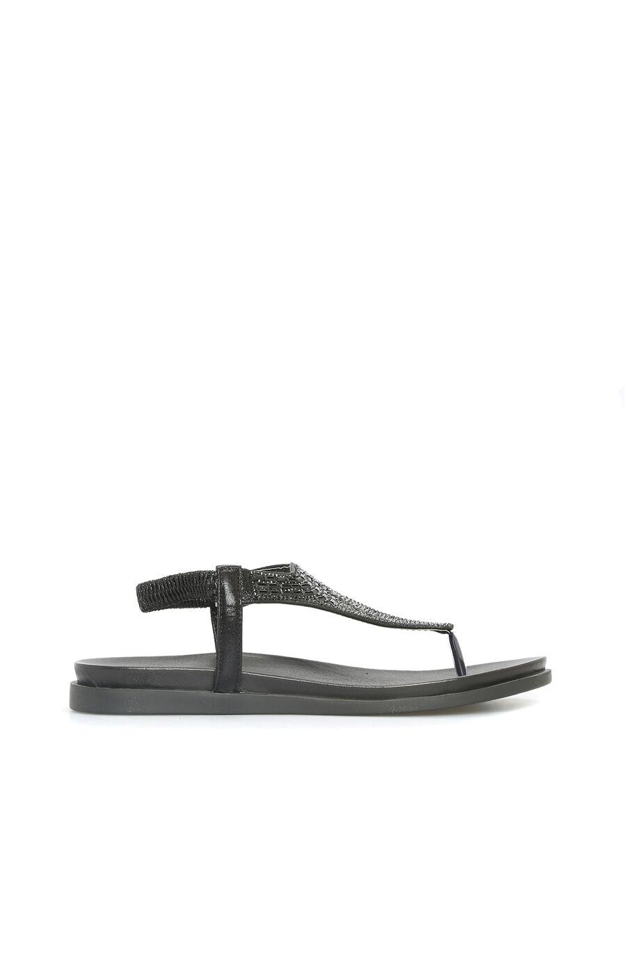 Dıvarese Taşlı Siyah Sandalet – 299.5 TL
