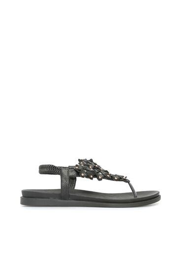 Troklu Siyah Kadın Sandalet