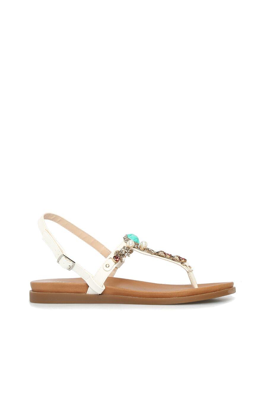 Dıvarese Taşlı Beyaz Sandalet – 299.5 TL