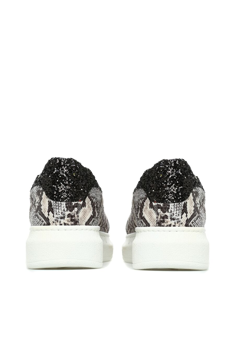 Yılan Baskı Vizon Sneaker