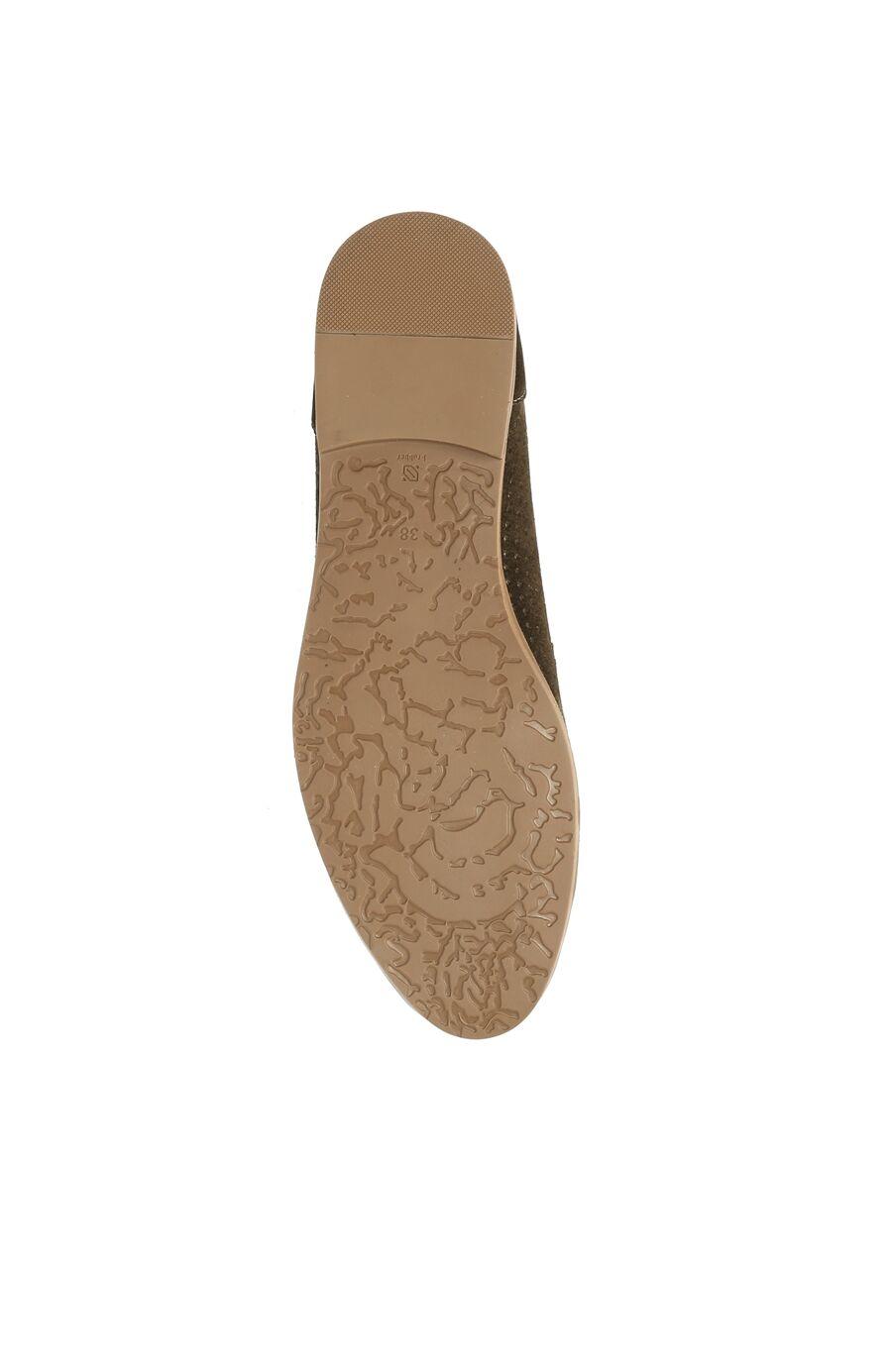 Delikli Haki Kadın Ayakkabı