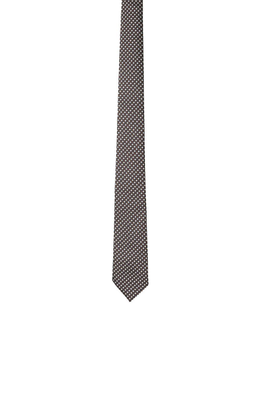 Lacivert-Kahverengi Erkek Kravat