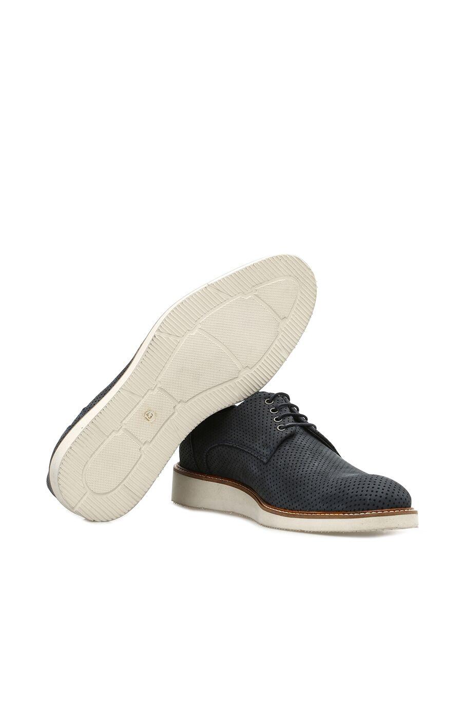 Delikli Lacivert Erkek Ayakkabı