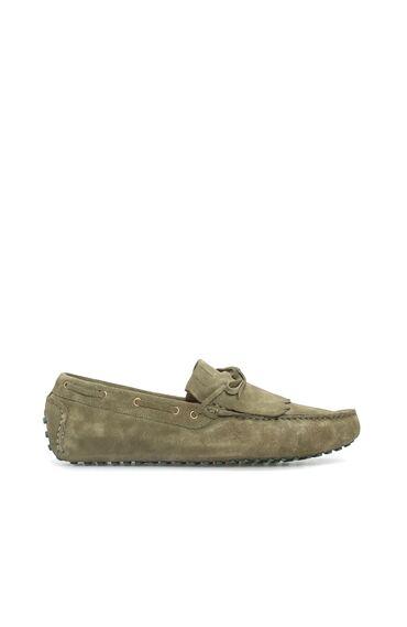 Haki Süet Erkek Loafer
