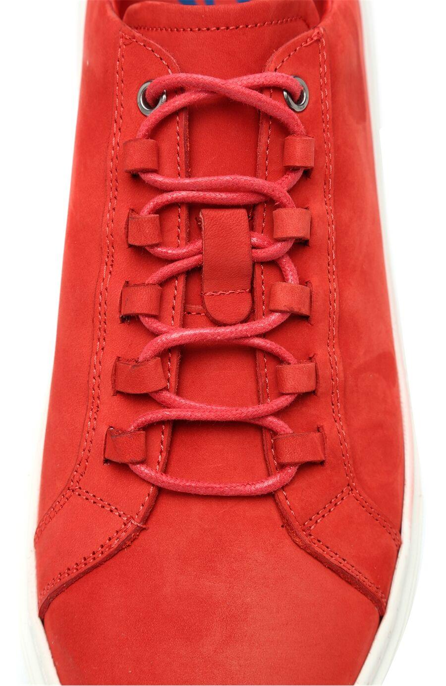 Nubuk Kırmızı Sneaker