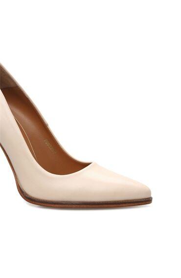 Kadın Pudra Deri Topuklu Ayakkabı