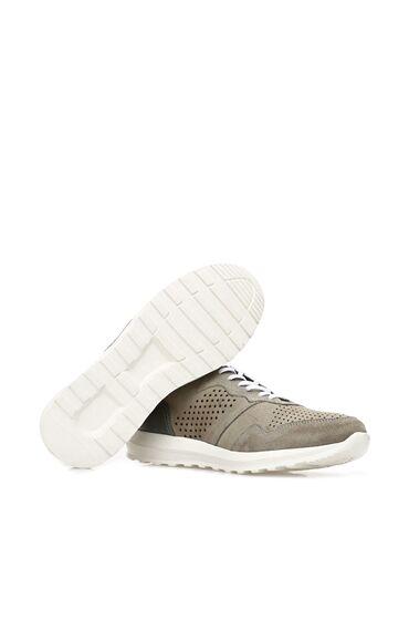 Delikli Gri Sneaker