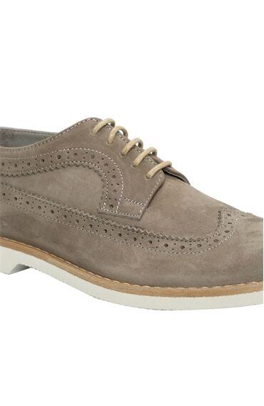 Nubuk Gri Ayakkabı