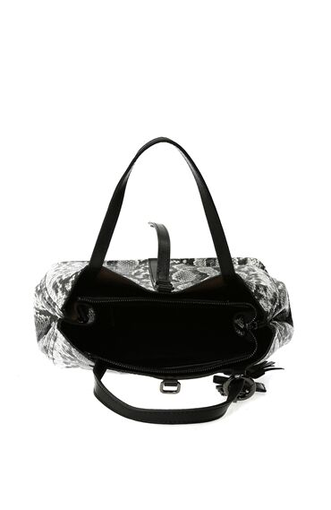 Yılan Baskı Siyah Kadın Çanta