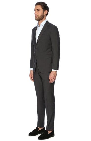 Mikro Slim Fit Antrasit Takım Elbise