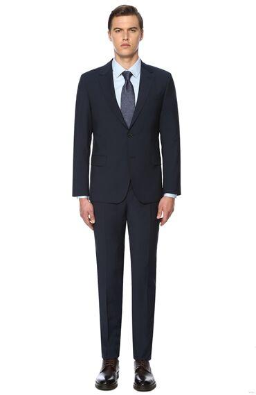 Mikro Slim Fit Lacivert Takım Elbise