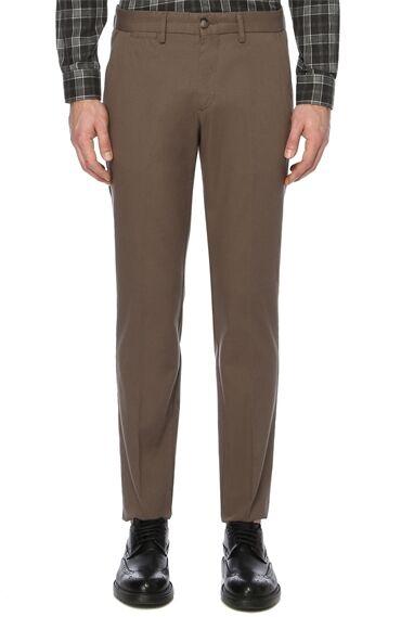 Armürlü Açık Kahverengi Pantolon