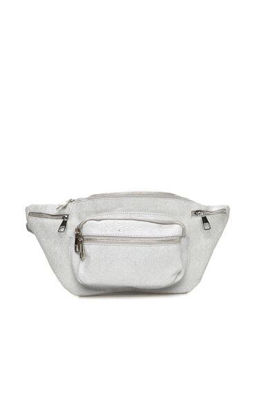 Gümüş Kadın Bel Çantası