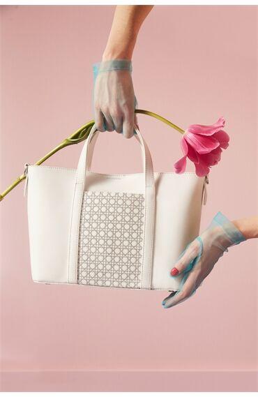 Mehry Mu x Divarese Narciso Beyaz Çanta