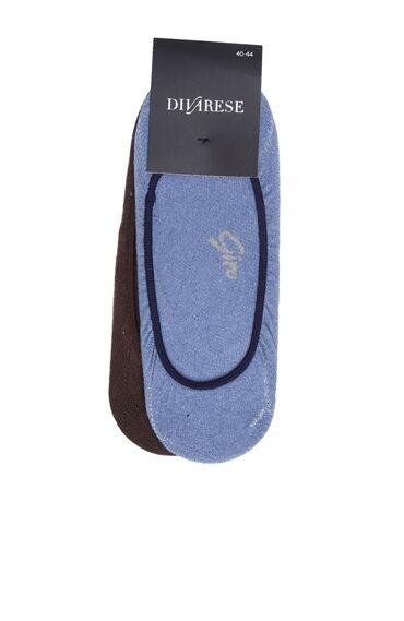 Beyaz Mavi 3'Lü Çorap Set