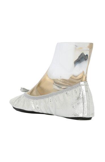 Gümüş Kadın Babet+Çanta Set