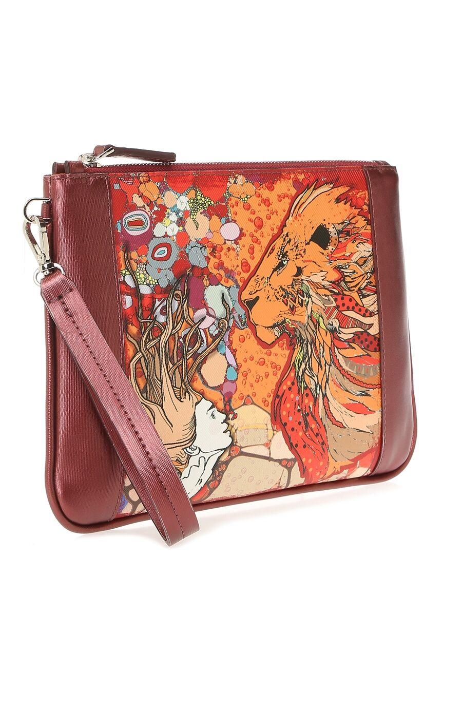 Aslan Burcu Desenli Kırmızı Kadın El Çantası