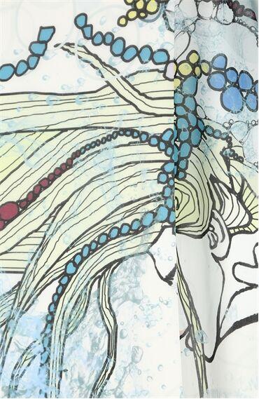 Kova Burcu Desenli Mavi Pareo