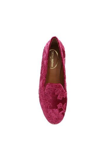 Kadife Fuşya Kadın Ayakkabı
